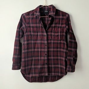 Madewell Flannel Plaid Shirt size xxs
